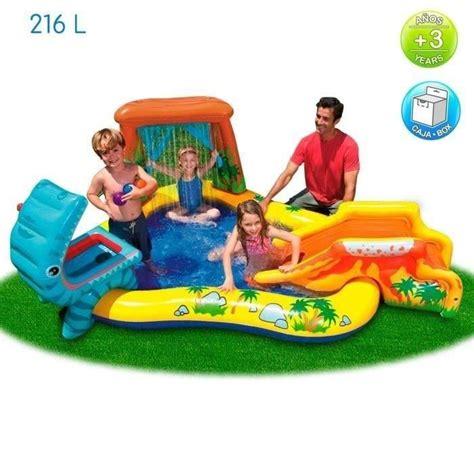 intex piscine gonflable enfant aire de jeux aquatique dinosaure 249 x 191 x 109 cm achat