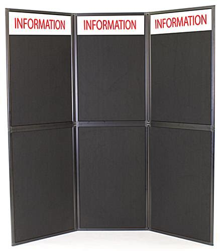 trade show display panel with header positioned in 2
