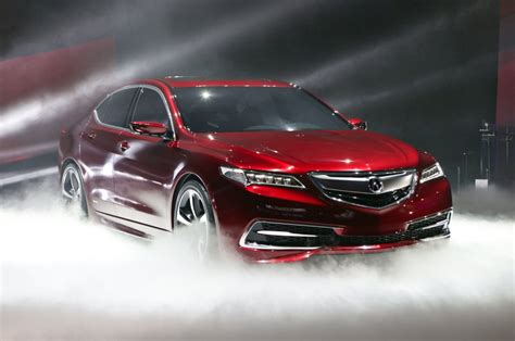 acura tlx red red acura tlx car at presentation