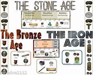 KS2 history topic STONE BRONZE & IRON AGE DISPLAY pack ...