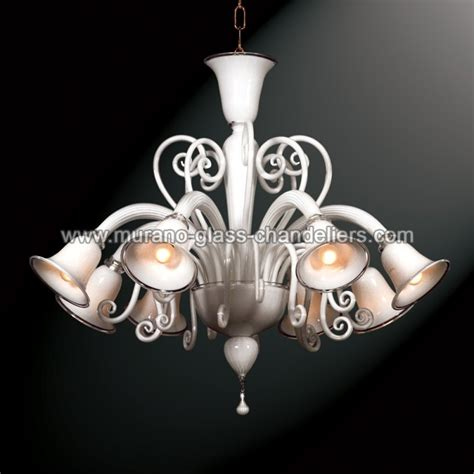 quot quot white murano glass chandelier murano glass