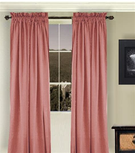 Solid Rose Colored Window Long Curtain (available in many