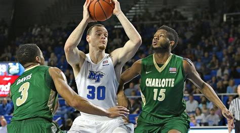 reggie upshaw mens basketball middle tennessee state