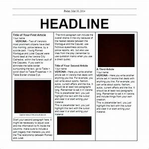 fake newspaper article template best business template With fake newspaper template