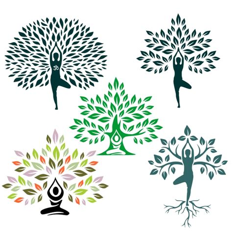 Free for commercial use no attribution required high quality images. Tree Yoga Pack Svg Cuttable Designs