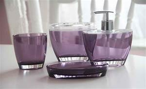 Elegant & Sophisticated Purple Bathroom Accessories