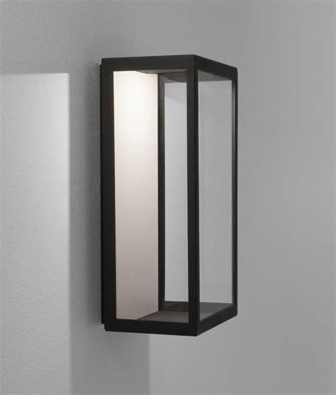 led modern framed wall mounted half lantern