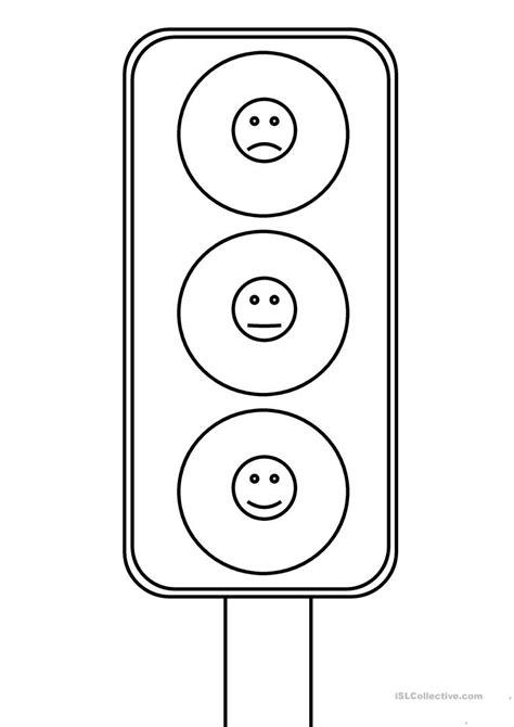 eq traffic light worksheet free esl printable worksheets