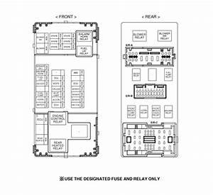 Kia Sedona  Relay Box  Engine Compartment  Components And Components Location