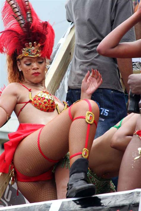 rihanna drunk and half naked carnival queen kadooment day