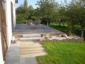 paysage decors nos terrasses par paysage decors With marvelous allee d entree maison 3 paysage decors creations paysage decors