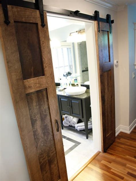 split barn door home design ideas pictures remodel  decor