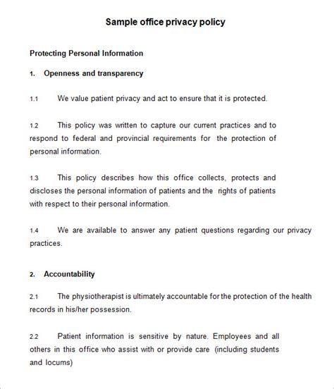 privacy policy template 7 privacy policy templates pdf doc free premium templates