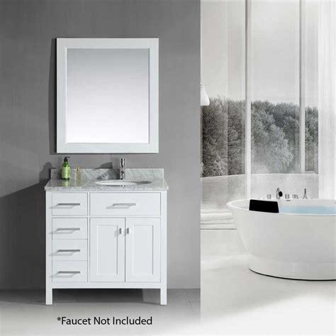 design element bathroom vanities design element 36 quot london single sink bathroom vanity white dec076d w l j keats
