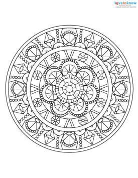 adult coloring pages  stress relief mandala mandala
