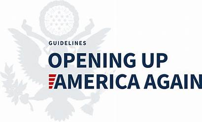 America Opening Again Guidelines Covid 2x Notice