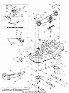 Mtd 13aj608h131  2002  Parts Diagram For 46 Cutting Deck