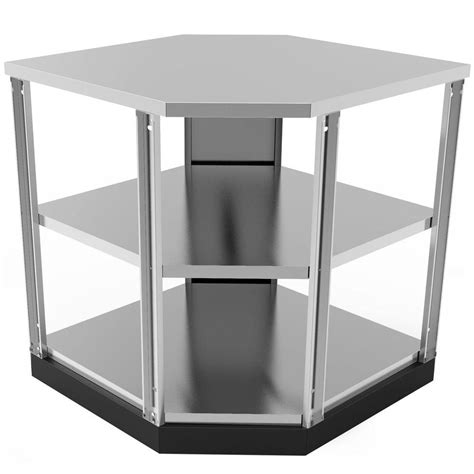 cabinet shelf kitchen newage products stainless steel classic 90 degree corner 6515