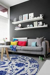 Salon Gris Bleu : quelle couleur pour un salon 80 id es en photos ~ Melissatoandfro.com Idées de Décoration