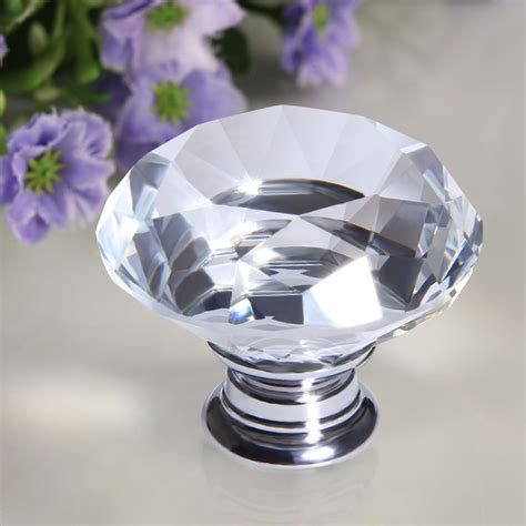 glass drawer knobs 8x 40mm clear glass door knob cabinet