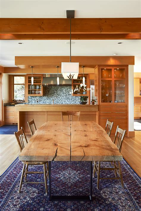 farm dining tables Dining Room Eclectic with beach house