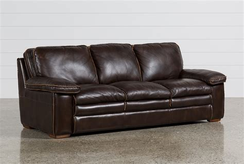 living spaces leather sofa walter leather sofa living spaces