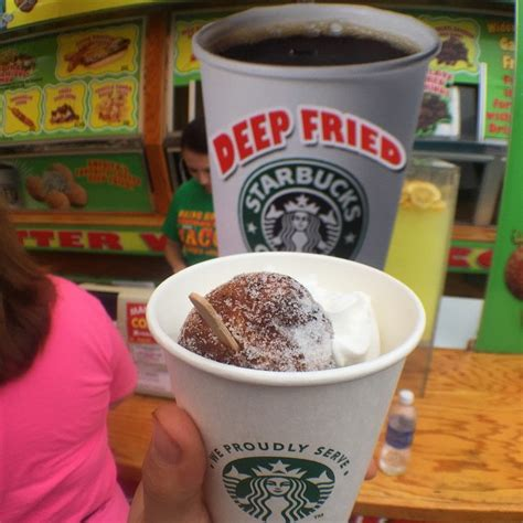 Последние твиты от friedcoffee (@fried_coffee). Deep-Fried STARBUCKS COFFEE Is A Real Thing You Can Get At The Fair This Summer