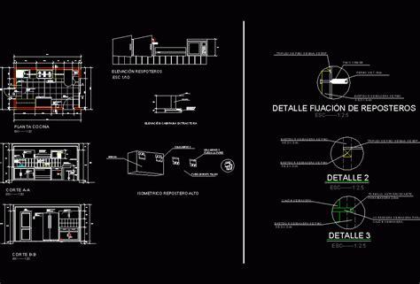 kitchen details dwg detail  autocad designs cad