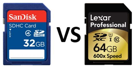 best sdxc sdhc vs sdxc what s the big deal and which is best