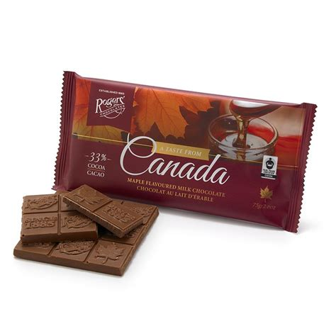 Bar Canada by Taste From Canada Maple Flavoured Milk Chocolate Bar