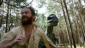 PsBattle: Man running away from Dinosaur in woods ...