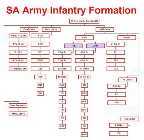 SA Army Infantry Formation