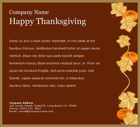 thanksgiving card email template email templates 賀卡 thanksgiving ii