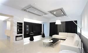 27 beautiful black and white interior design living room With black and white interior design living room