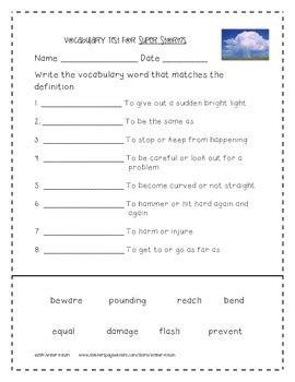 super storms supplemental activities 2nd grade journeys unit 2 lesson 8
