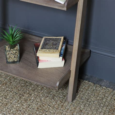 Rustic Ladder Bookcase by Rustic Ladder Shelving Bookcase Unit Browne