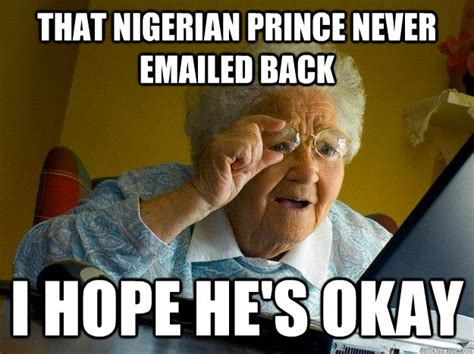 Scam Meme - why online scammers say they re nigerian princes
