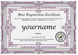 doc640828 name a star certificate template name a With star naming certificate template