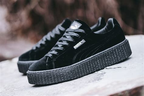 Puma by Rihanna Fenty Women's Creepers Velvet Black Shoes