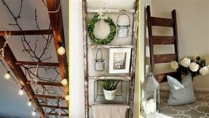Diy, Farmhouse, Style, Rustic, Ladder, Decor, Ideas, 2017-home, Decor, And, Organisation