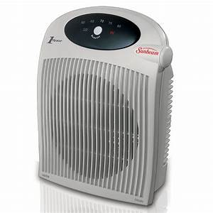 Sunbeam Portable Heater Fan With Alci Cord For Wet Area
