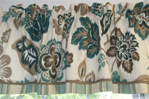 Teal Brown Cream Braemore Floral Toile Valance 17 X 54 Round Fireplace How To Paint Your White Lowes Screen Inserts Pellet Burning 2 Fireplaces 1 Chimney And Repair Ventless Corner Gas San Francisco