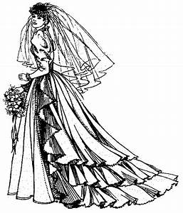 Black And White Wedding Dress Clipart | Clipart Panda ...