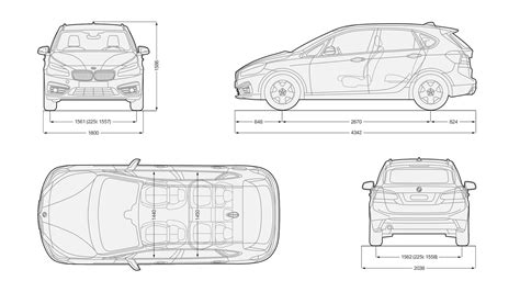 Bmw 2 Series Active Tourer Sizes And Dimensions Carwow