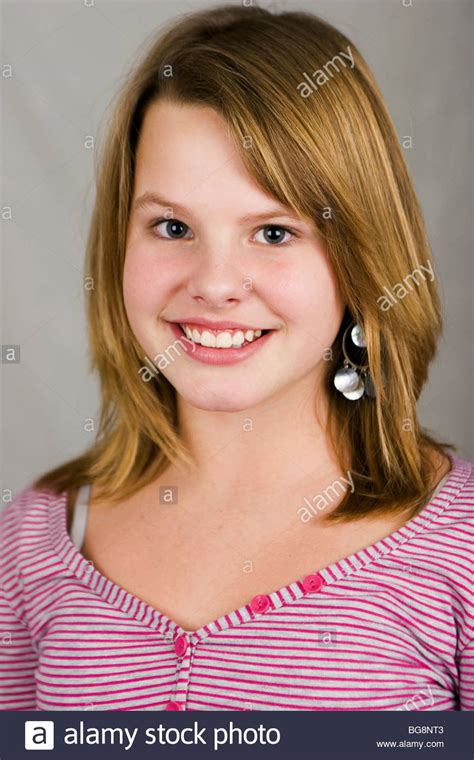 Cute Teen Girl With Crooked Teeth  Seriecvs317704 Stock