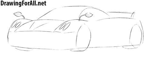 How To Draw Pagani Huayra