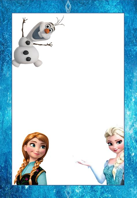 frozen  printable frames invitations  cards