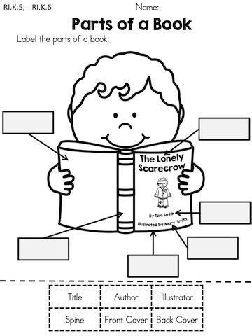 parts of a check worksheet autumn kindergarten no prep language arts worksheets