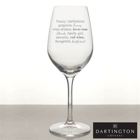 definition   wine glass personalised   words
