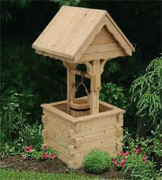 Outdoor Decorative Well Covers by Amish Garden Wishing Well With Pine Roof Jumbo
